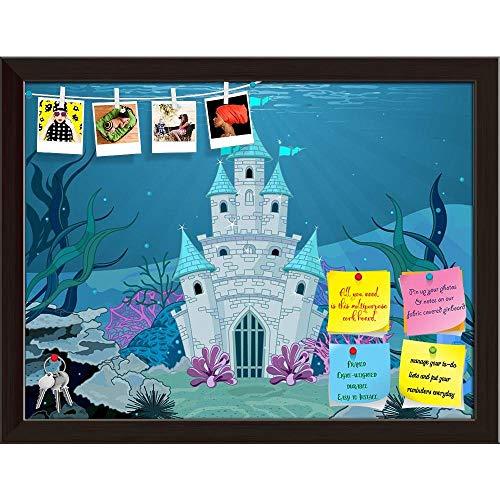 (Artzfolio Magic Fairy Tale Printed Bulletin Board Notice Pin Board   Dark Brown Frame 21 X)