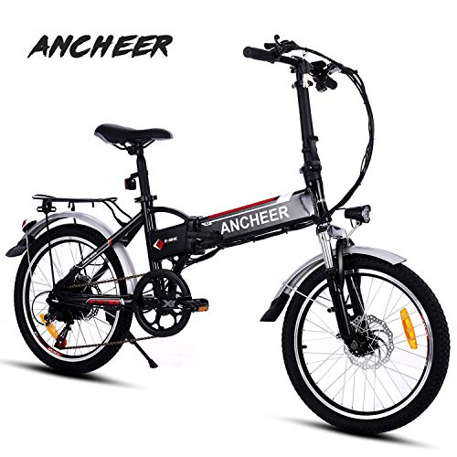 ANCHEER Folding Electric Bike with 36V 8Ah Removable...