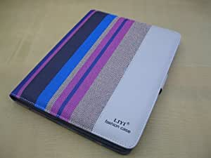 Free Shipping Fashionable Luxury Lines Pattern PU Leather Flip Case Cover For iPad 2/3/4 D