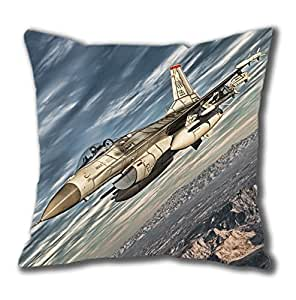 Army Fighter Aircraft Easter Thanksgiving Personlized Thanksgiving Easter Masterpiece Limited Design Cotton Square Pillow Case by Cases & Mousepads