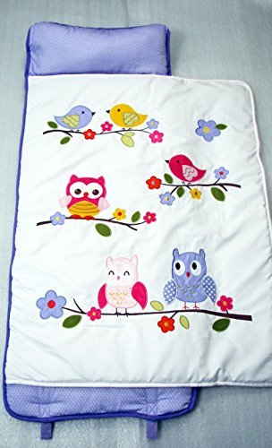 SoHo Nap Mat , Lavender Owls (Lavender Owls) by Ellie and Luke by Ellie and Luke