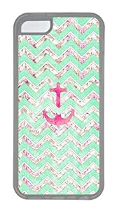 IMARTCASE iPhone 5C Case, Vintage Floral Girly Anchor Case for Apple iPhone 5C TPU - White