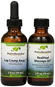 Native Remedies Leg Cramp Away and RealHeal Massage Oil ComboPack