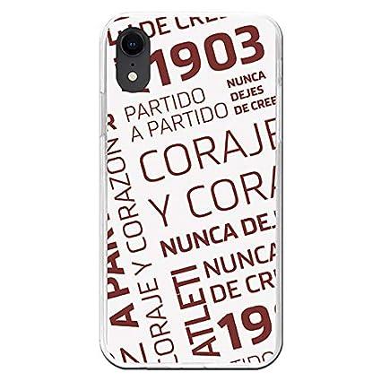Carcasa Oficial Atlético de Madrid Coraje y corazón iPhone ...