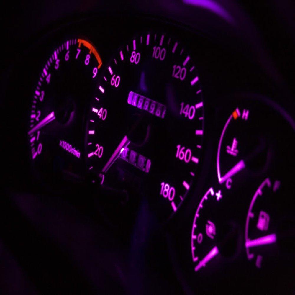 Amazon.com: WLJH T5 17 37 74 2721 Pink Dashboard Gauge Instrument Cluster Panel Dash LED Light Lamp with Twist Lock Socket,Pack of 6: Automotive
