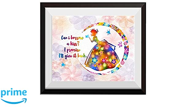 6857a41dc7f Uhomate The Princess and the Frog Princess Tiana Home Canvas Prints Wall  Art Anniversary Gifts Baby Gift Inspirational Quotes Wall Decor Living Room  Bedroom ...