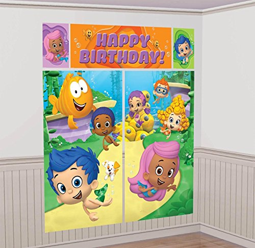 Bubble Guppies Scene Setters Wall Banner Decorating Kit Birthday Party Supplies