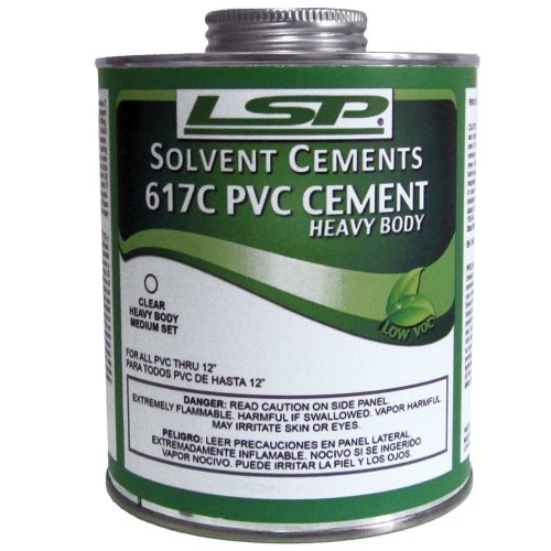 LSP 617G-3 Set PVC Cement, 1-Pint, Gray ()