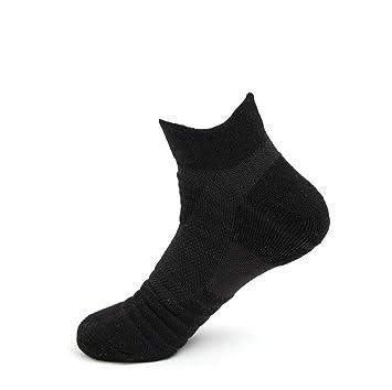 GKKXUE Calcetines Deportivos para Hombres, Calcetines Antideslizantes para Correr, (Color : Negro,