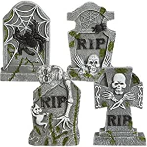 Glittery Mini Mossy Cement Tombstones Decoration Choose From 4 Designs