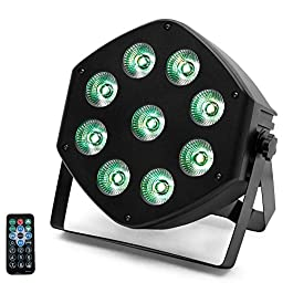 9 LEDs Par Light,RGBW Stage Lights with Remote Controller 7CH DMX Sound Control for DJ Club Birthday Party LiveShow