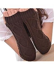 Unisex Men Women Arm Warmers Fingerless Knitted Long Gloves Cute Mittens