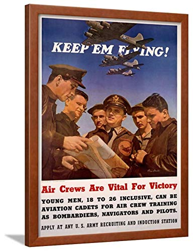 ArtEdge WWII US AAF 'Keep'em Flying' Wall Art Framed for sale  Delivered anywhere in USA