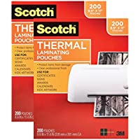 Scotch Thermal Laminating Pouches, 8.9 x 11.4-Inches, 3 mil thick, 400-Pack