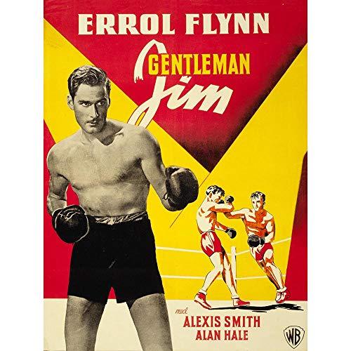 Wee Blue Coo Movie Film Gentleman Jim Errol Flynn Boxer Unframed Wall Art Print Poster Home Decor Premium