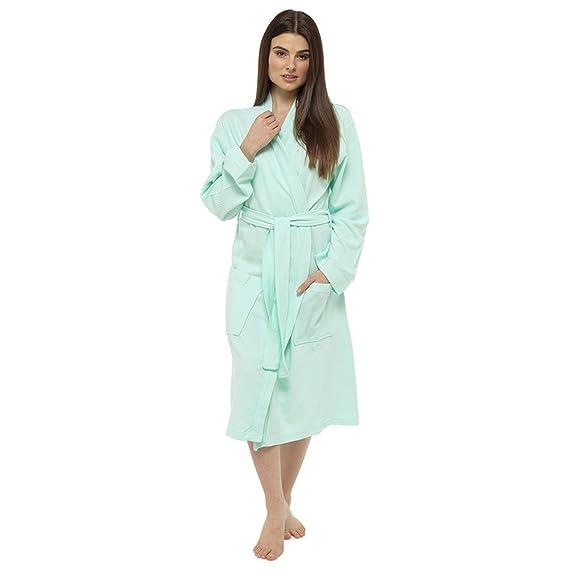 Octave Ladies Summer 100% Cotton Soft Touch Waffle Bath Robe Dressing Gown   Amazon.co.uk  Clothing edbb15898