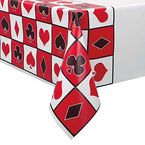 Poker Night Plastic Tablecloth, 84