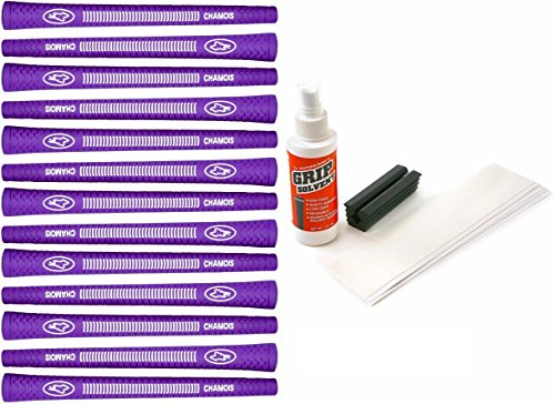 Avon Chamois Jumbo Purple - 13 Piece Golf Grip Kit (with Tape, Solvent, Vise Clamp) (