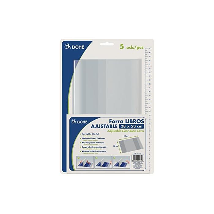 51 7Ol3%2BBEL Haz clic aquí para comprobar si este producto es compatible con tu modelo Cubiertas protectoras de libros y cuadernos Fabricadas en PVC de 120 micras