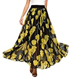 Urban CoCo Women's Fashion Chiffon High-Waist Summer Long Maxi Skirt (L, 1)