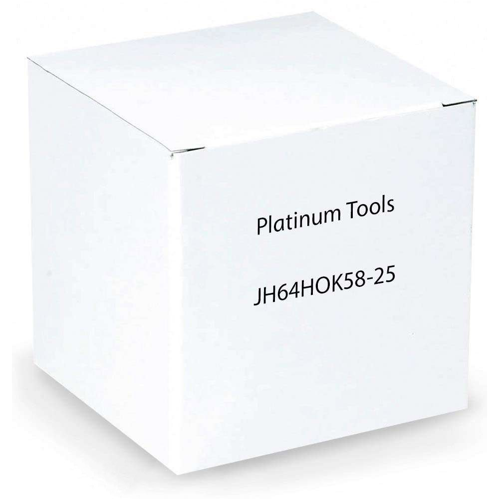 Platinum Tools JH64HOK58-25 4-Inch Hammer-On J-Hook, 5/16-Inch-1/2-Inch Flange, Size 64, 25 Per Box by Platinum Tools