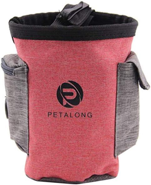 Balacoo Pet Food Storage Bag Dog Travel Food Bag Pet Food Container Red