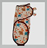 Baby : Swaddle Blanket, Swaddle Wrap BUY 2 FOR $22 Small to Medium 7-14 lbs. Adjustable Infant Baby Wrap Set by Banana Baby Soft Cotton Small to Medium Giraffe Hippo Bear Brown Animal Design