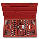 Neiko 00908A SAE and Metric Tap and Hexagon Die Set, Alloy Steel | 76-Piece Set