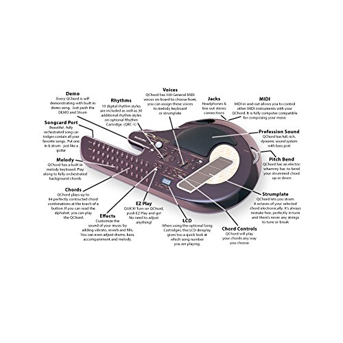 Suzuki Q-Chord with AC Adaptor - Digital Song Card Guitar with A/C adapter (QCA)