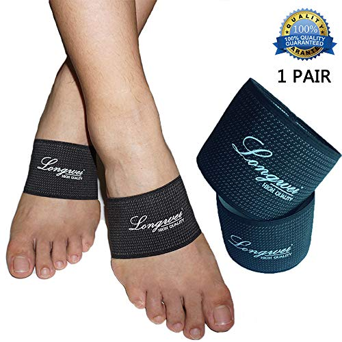 Plantar Fasciitis Foot Arch Support, Longwei Compression Copper Arch Support Sleeve for Relief of Foot Pain, Plantar Fasciitis Support Foot Brace for Treatment of Flat Feet Arch Support, Heel Spur