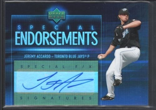 JEREMY ACCARDO 2006 UPPER DECK SPECIAL F/X ENDORSEMENTS AUTOGRAPH SP GIANTS $12