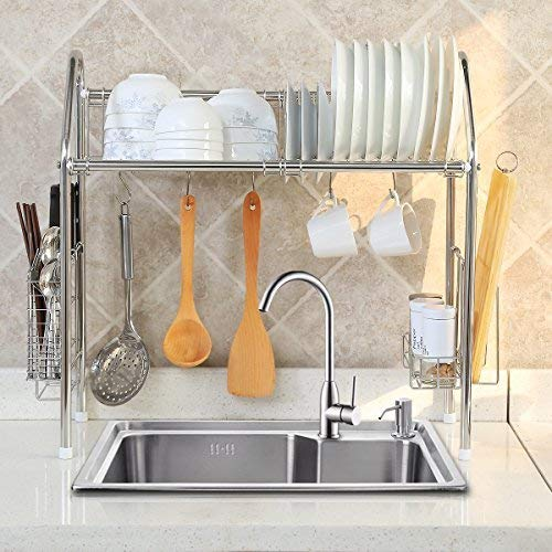 1208s Stainless Steel Over Sink Drying Rack Dish Drainer Import It All
