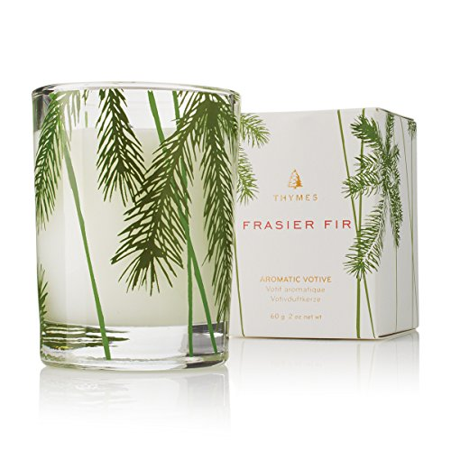Thymes - Fragrant Frasier Fir Votive Candle with 15-Hour Burn Time - 2 Ounces