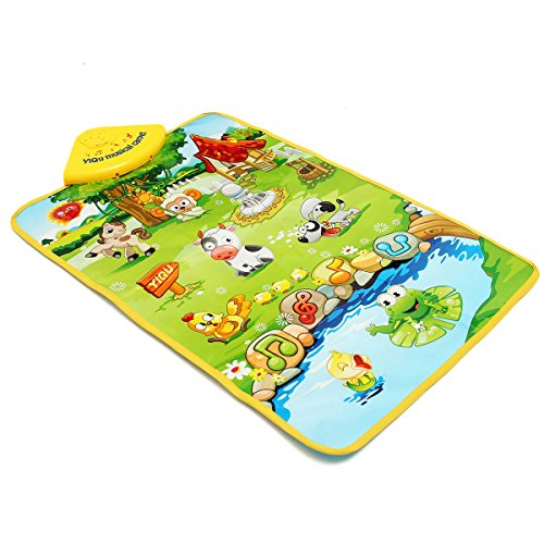New Baby Children Farm Animal Music Sound Touch Play Singing Gym Carpet Mat Toy Gift By KTOY