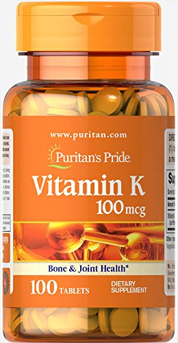Puritan's Pride Vitamin K 100 mcg-100 Tablets