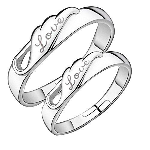 19 Likes Gold & Rhodium Plated Couple ring for Men & Women (B01GECOFLM) Amazon Price History, Amazon Price Tracker