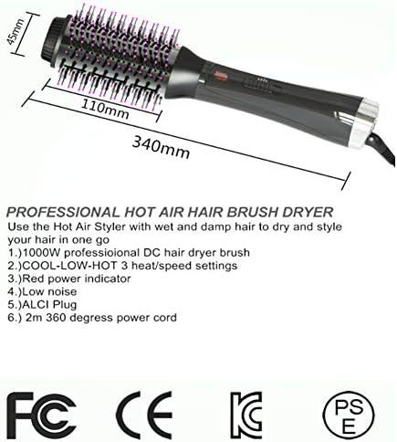 NADAENMF Sèche Cheveux Brosse 3 en 1 air Chaud Brosse avec