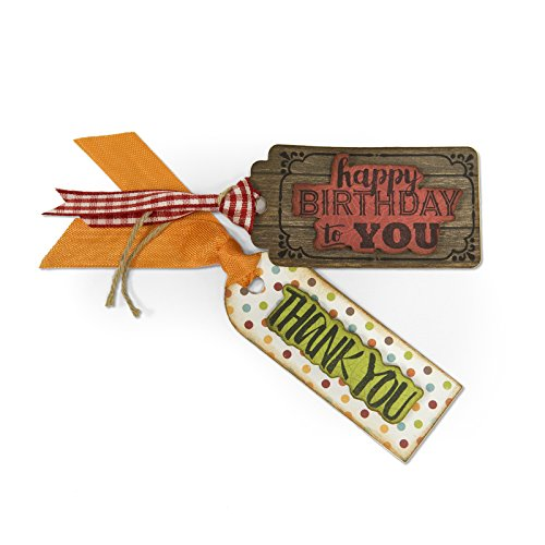 Sizzix Framelits Die Set with Stamps, Tag Sentiments #2 (Sentiment Tags)