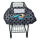 Boppy Shopping Cart and High Chair Cover, City Squares Black and White
