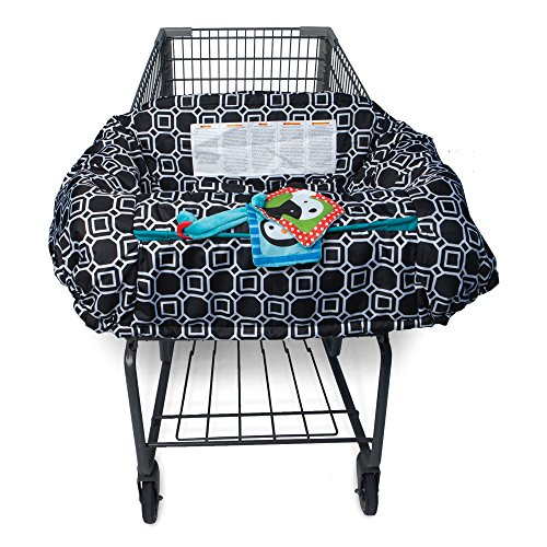 Boppy Shopping Cart and Restaurant High Chair Cover, City Squares Black and White