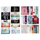 #7: Birthday Cards- Birthday Wishes Cards [36 Designs] - 36 PCS Blank Cards - White Envelopes Included, C