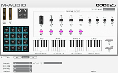 M-Audio Code 49 49-Key USB MIDI Drum Pad and Keyboard