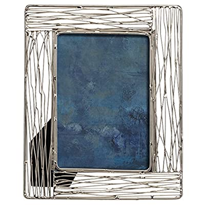 PRINZ Artisan 8x10 Broome Silver Metal Frame - Constructed from metal Displays your favorite 8x10 photo 2-Way easel for easy vertical or horizontal display - picture-frames, bedroom-decor, bedroom - 51 7U2G4C0L. SS400  -