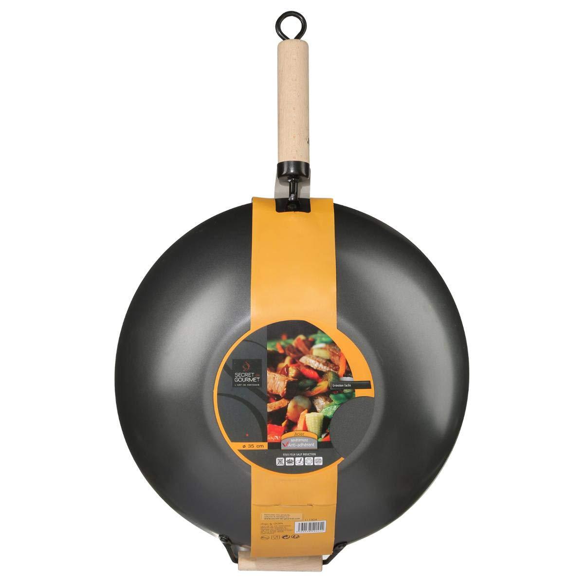 Secret de Gourmet 111304 - Wok (60 cm, con mango de madera ...
