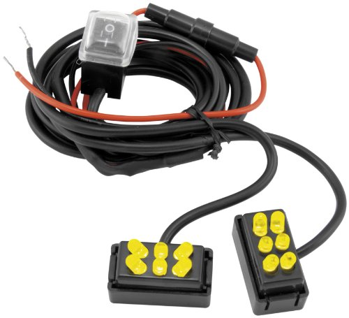 (Street FX 1042799 ElectroPods Yellow/Black Motorcycle Oval Pod, (Pack of 2))