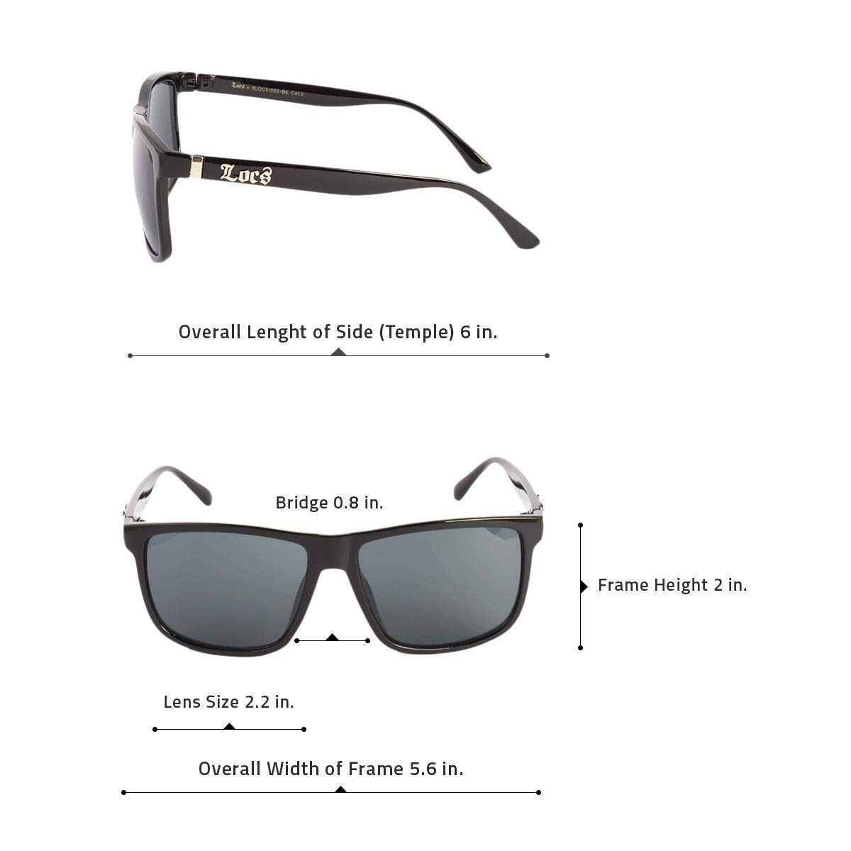 591411dcd66d Amazon.com  MEN DARK LENS LARGE GANGSTER BLACK OG SUNGLASSES LOCS OVERSIZE  BIKER GLASSES USA  Clothing