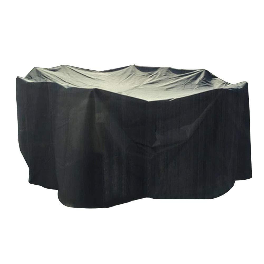 IDWOI ファニチャーカバー ガーデン家具カバー 防水 通気性 パティオセットカバー アウトドア用 テーブルと椅子 、黒 (Size : 260x260x110cm) B07SRZJQQ4  260x260x110cm