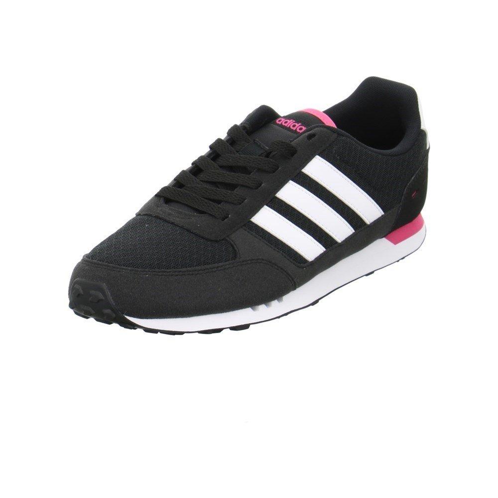 Adidas City Racer W, Zapatillas de Deporte para Mujer 37 1/3 EU|Negro (Negbas / Ftwbla / Supros)