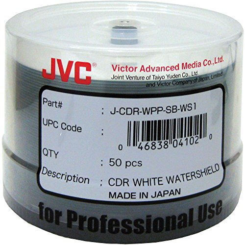 CMC Pro - Powered by TY Technology Watershield Glossy White Inkjet Hub 48x 80 Minute/700MB CD-Rs in 50 Disc Cake Box (Everyday Inkjet)
