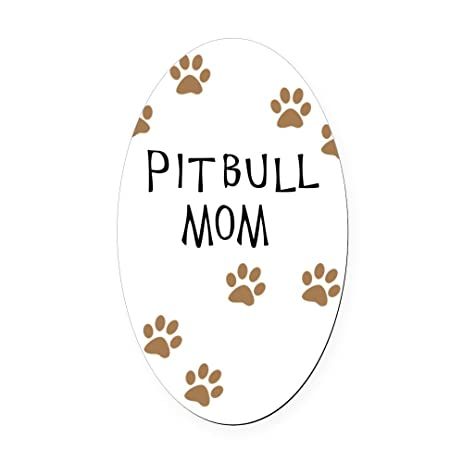 Cafepress pitbull mom oval car magnet euro oval magnetic bumper sticker